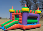 Slide a side Jumping Castle