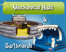 Mechanical Bulls & Surfboards for hire