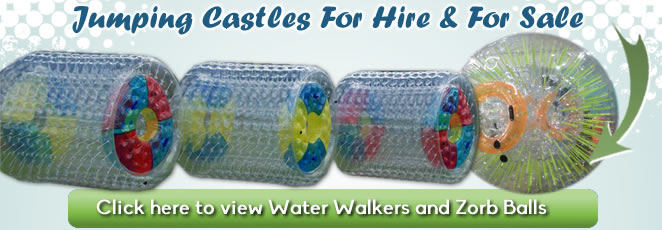 Water Walkers and Zorb Balls for hire