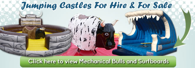 Mechanical Bulls and Surfboards for hire