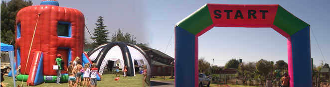 Inflatable tents and marquees
