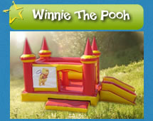 Winnie the Pooh Jumping Castle for hire